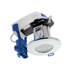 Click Ovia Inceptor Max 8W Warm White Non-Dimmable Chrome Fixed LED Downlight