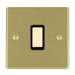 Hamilton Hartland Satin Brass 1 Gang Multi way with Black Insert