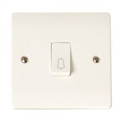 Click Curva 10A 1 Gang 1 Way Retractive Bell Switch