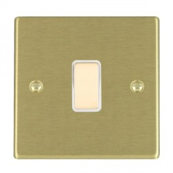 Hamilton Hartland Satin Brass 1 Gang Multi way with White Insert