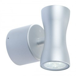 Collingwood Lighting WL070A WW Anodised Aluminium Warm White Up/down LED Wall light 18° Beam Angle