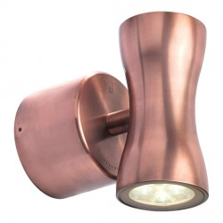 Collingwood Lighting WL370A WW Warm White Up/down LED Wall light 18° Beam Angle in Copper