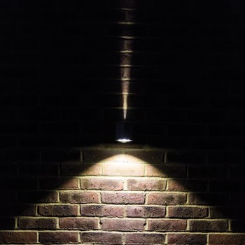 Collingwood Lighting MC050 WW Straight To Mains LED Wall Light With Decorative Wall Effect Warm White