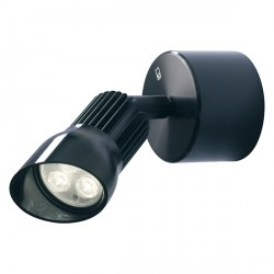 Collingwood Lighting WL140A F WW Straight To Mains Warm White LED Adjustable Wall Light in Black