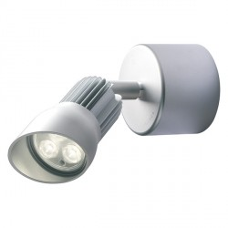 Collingwood Lighting WL240A F WW Straight To Mains Warm White LED Adjustable Anodised Aluminium Wall Light
