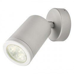 Collingwood Lighting WL220A MAIN F WW Warm White LED Adjustable Anodised Aluminium Wall Light Beam Angle 38°