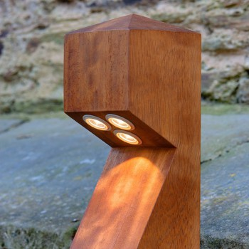 Collingwood Lighting BOL LED 030 MAINS NW Straight to Mains Neutral White LED Wooden Bollard