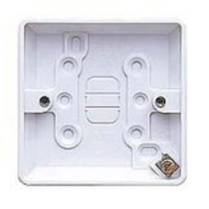 MK Electric 1 Gang 16mm White Moulded Surface Pattress Box