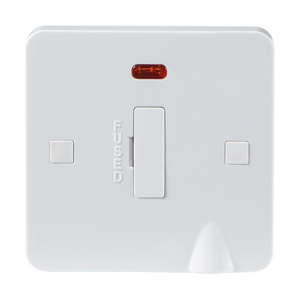 Buy Knightsbridge Pure Pu6000f 13a Fused Spur Unit With Neon  U0026 Flex Outlet White At Uk