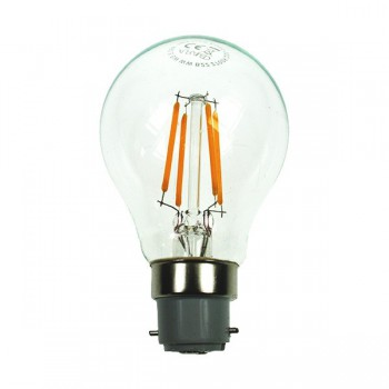 Auraled A-FLM-GL-4-CW-B 4W Cool White LED Filament Bulb - Bayonet Cap