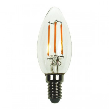 Auraled A-FLM-CL-4-CW-E 4W Cool White LED Filament Candle Lamp - Small Edison Screw