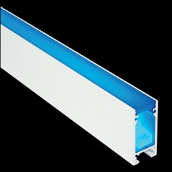 Collingwood Lighting LINE PROFILE 20MM 1M & ACRYLIC COVER F 1M - Recessed Profile for LEDSTRIP IP With Frosted Cover