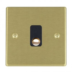 Hamilton Hartland Satin Brass 20A Cable Outlet with Black Insert