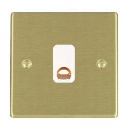 Hamilton Hartland Satin Brass 20A Cable Outlet with White Insert