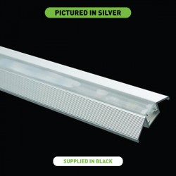 Collingwood Lighting PROFILE 6X12 BLK 1M Wall or Floor Profile for LEDSTRIP IP in Black