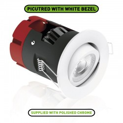 Aurora Lighting m10 8.5W 2700K Dimmable Adjustable LED Downlight with Polished Chrome Bezel