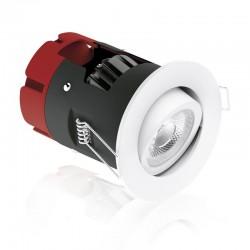 Aurora Lighting m10 8.5W 2700K Dimmable Adjustable LED Downlight with Matt White Bezel