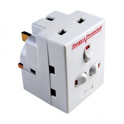 Timeguard SPA3G 3-Way Individually Switched Plug-in Surge Protected Adaptor