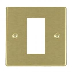 Hamilton Hartland EuroFix Plates Satin Brass Single Plate c/w 1 EuroFix Apertures + Grid