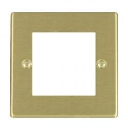 Hamilton Hartland EuroFix Plates Satin Brass Single Plate c/w 2 EuroFix Apertures + Grid