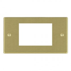 Hamilton Hartland EuroFix Plates Satin Brass Double Plate c/w 3 EuroFix Apertures + Grid