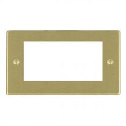 Hamilton Hartland EuroFix Plates Satin Brass Double Plate c/w 4 EuroFix Apertures + Grid