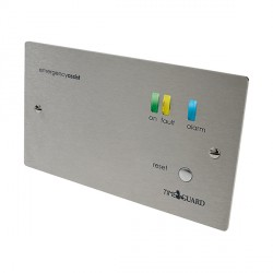Timeguard EASSCP1 2 Gang Single Zone Emergency Assist Control Panel Stainless Steel Finish