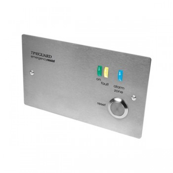Timeguard EASSCP1PR 2 Gang Single Zone Emergency Assist Panel Battery Back-up Stainless Steel Finish