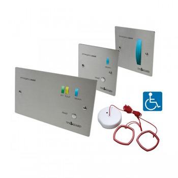 Timeguard EASSSZK Single Zone Emergency Assist Alarm Kit Stainless Steel Finish
