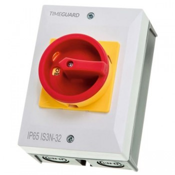Timeguard IS3N-32 Weathersafe 32Amp 3 Pole Rotary Isolator Switch