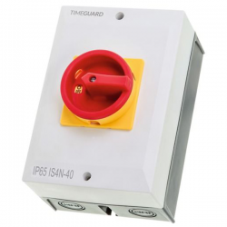 Timeguard IS4N-40 Weathersafe 40Amp 4 Pole Rotary Isolator Switch