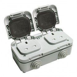Timeguard TPS201 Outdoor Two Gang Socket