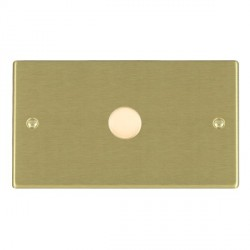 Hamilton Hartland Satin Brass Push On/Off Dimmer 1 Gang 2 way 1000W with Satin Brass Insert