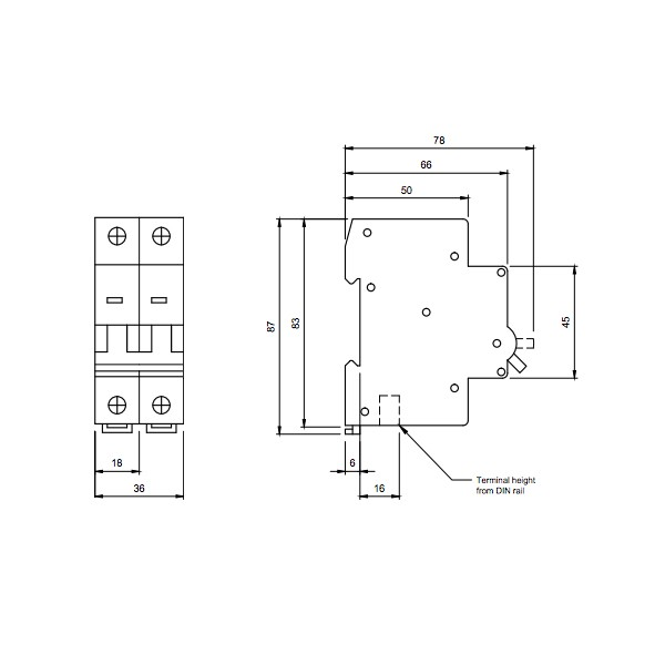 Hager mcb wiring diagram the best wiring diagram 2017 europa euc2p32d 32 type d 10ka double pole mcb at uk electrical asfbconference2016 Gallery