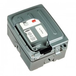 Timeguard WXT104N Weathersafe Extreme One Gang 13A RCD Fused Spur