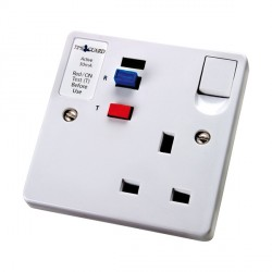 Timeguard TFA01W Tripfast RCD Single White Socket - Active