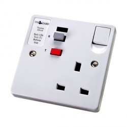 Timeguard TFP02WL Tripfast RCD Single White Socket - Passive
