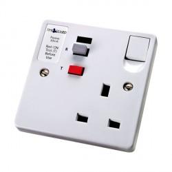 Timeguard TFP02WL Tripfast RCD Single White Socket - Passive