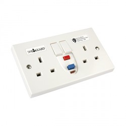 Timeguard RCD05WAV Valiance® RCD Double White Socket - Active