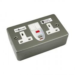 Timeguard RCD08MPV Valiance® RCD Double Metal Socket - Passive