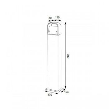 Ansell Gila AGLEDB/700 Modern 9W Cool White Bi-directional Bollard Light