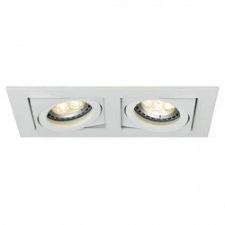 Ansell Lyric 2x50W Adjustable GU10 Matt White Downlight