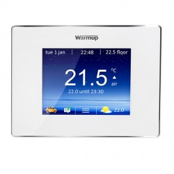 Warmup 4iE Smart WIFI Thermostat in Bright Porcelain