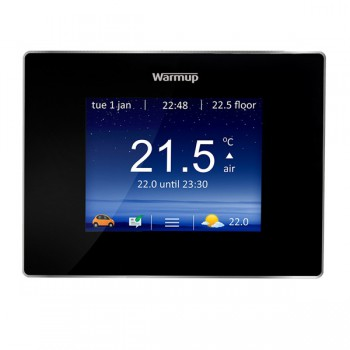 Warmup 4iE Smart WIFI Thermostat in Onyx Black