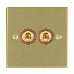 Hamilton Hartland Satin Brass 2 Gang 2 Way Dolly with Satin Brass Insert