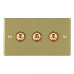 Hamilton Hartland Satin Brass 3 Gang 2 Way Dolly with Satin Brass Insert