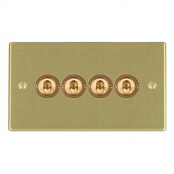 Hamilton Hartland Satin Brass 4 Gang 2 Way Dolly with Satin Brass Insert