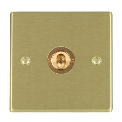 Hamilton Hartland Satin Brass 1 Gang Push To Make Retractive Dolly with Satin Brass Insert