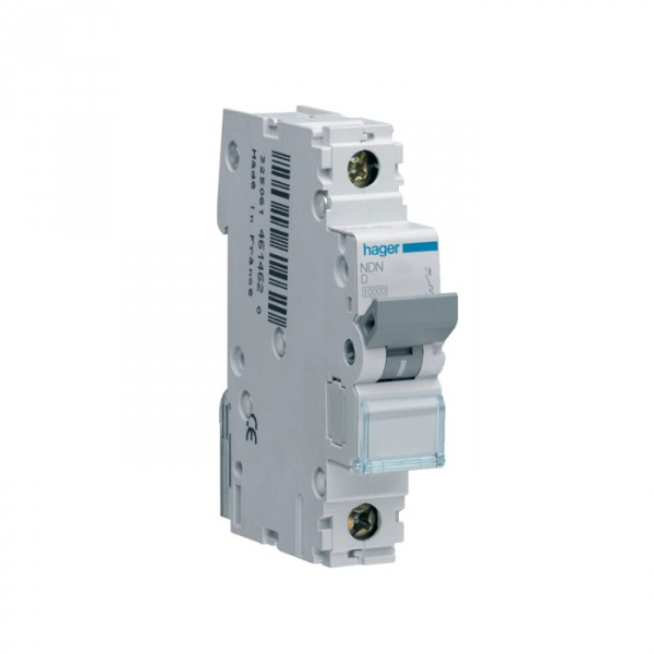 Hager NDN120A 20amp Type D 10kA Single Pole MCB at UK Electrical ...