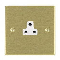 Hamilton Hartland Satin Brass 1 Gang 2A Unswitched Socket with White Insert